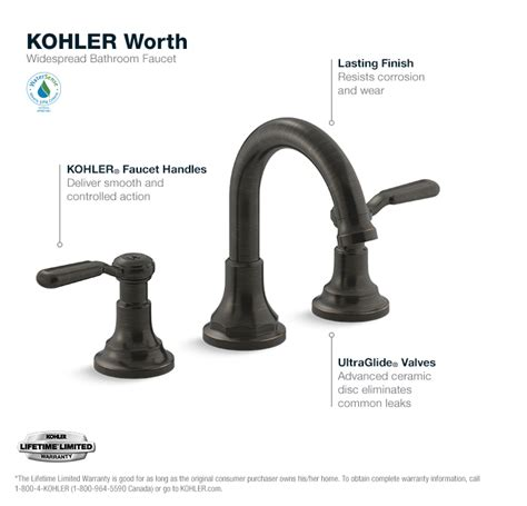 kohler worth 8 in 2 handle widespread bathroom faucet in