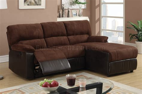 F6627 Reclining Sectional Sofa By Boss In Chocolate Microfiber