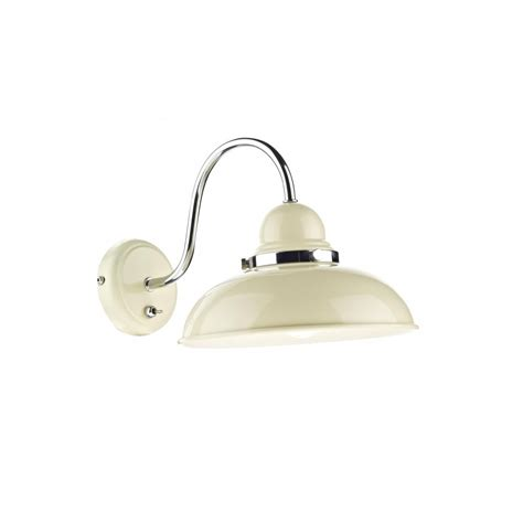rustic metal wall light retro style with chrome