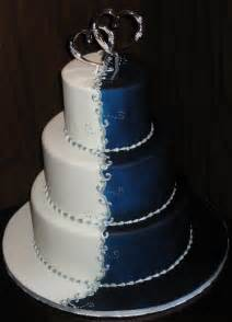 cowboy cake toppers beautiful blue and white wedding cake with blue and silver