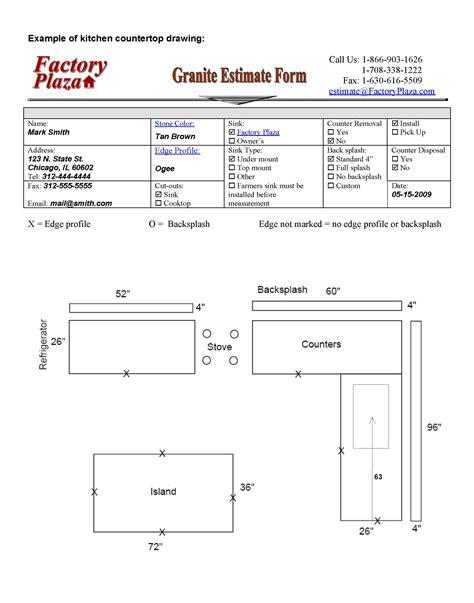 Kitchen Countertop Measurements  Kitchen Design Ideas