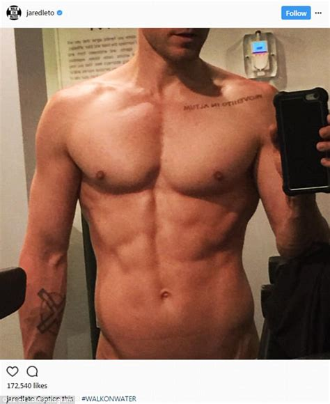 Jared Leto Shows Off His Ripped Abs In Naked Selfie