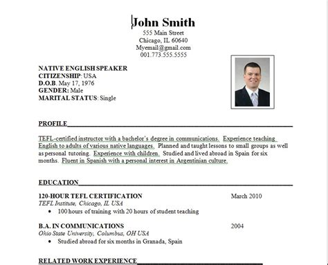 work resume samples sample of job resume format sample resumes
