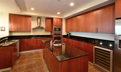 cherry wood cabinets with granite countertop black granite countertops with cherry cabinets