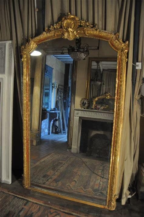 miroir doré ancien miroir ancien cadre feuille or louis xv