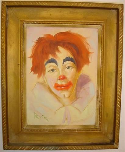 Clown Famous Oil Paintings Painting Creepy Sad