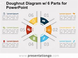 Doughnut Diagram With 6 Parts For Powerpoint