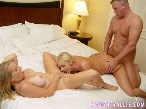 Naughty Allie Has Three Way Sex With Horny Couple