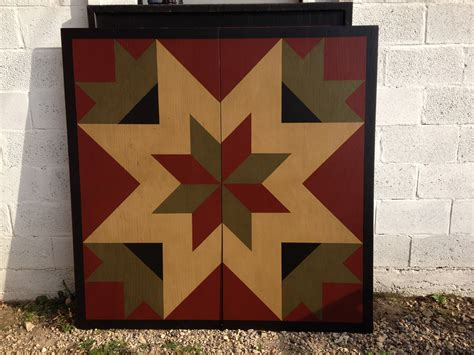 Painted Barn Quilts by Primitive Painted Barn Quilt 5 X 5 Any Etsy