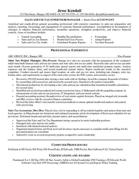 Tax Accountant Resume by Tax Accountant Resume Sle Click Here For A Free