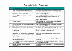 sample vision statements best template collection With vision statement template free