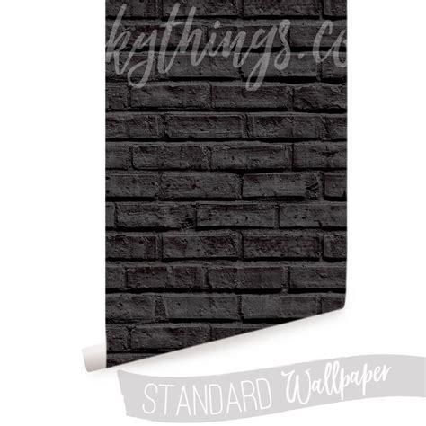 black brick wallpaper black brick wall mural