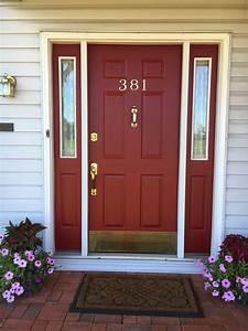 Dark, Red, Paint, Color, Front, Door