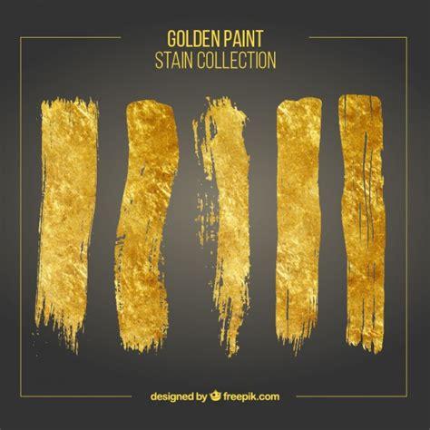 gold color photoshop golden brush strokes set vector free