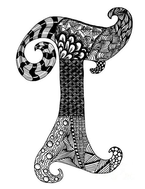zentangle letter  monogram   wright zentangle art art zentangle drawings