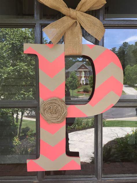 door hanger initial front door decoration