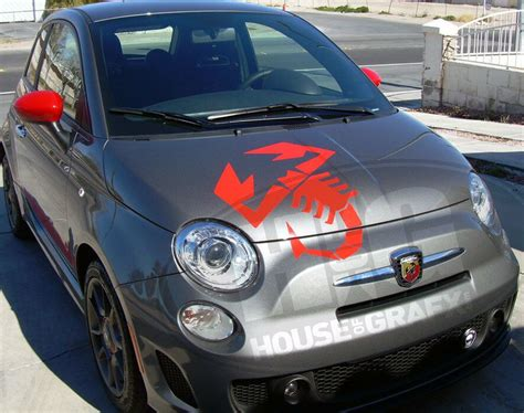 Fiat Scorpion by 4 Large Vinyl Scorpion Scorpions Decal Decals Graphics Fit