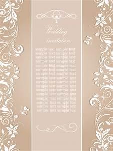 floral wedding invitation card elegant design free vector With elegant floral wedding invitations vector