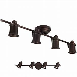 Oil rubbed bronze light track lighting ceiling or wall