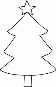 Black and White Blank Christmas Tree Clip Art - Black and ...