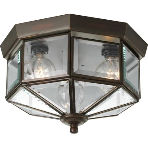 progress lighting p5788 20 antique bronze 3 light flush