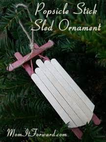 how to make a popsicle stick sled ornament mom it forwardmom it forward