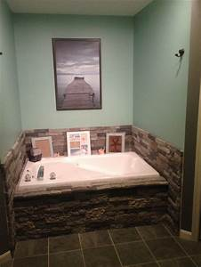 Airstone makeover anyone can do it bathroom remodel for Airstone bathroom