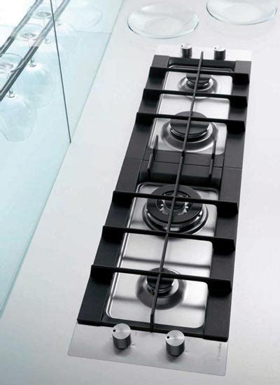 Rex Electrolux linear flush mounted gas hob