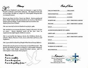 5 obituary template word teknoswitch With death program templates