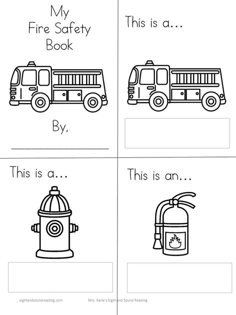 safety lesson plans 216 | fire safety literacy lesson 03