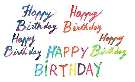 Happy Birthday Images In 5 Happy Birthday Watercolor Png Transparent Onlygfx