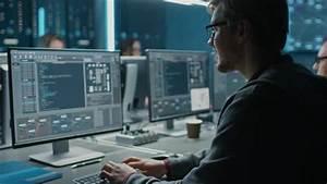 smart it programer working on desktop computer in