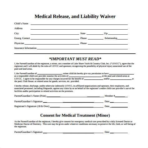 medical disclaimer form 11 sle medical waiver forms sle templates