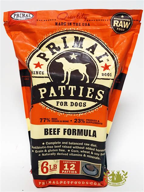primal canine beef patties formula