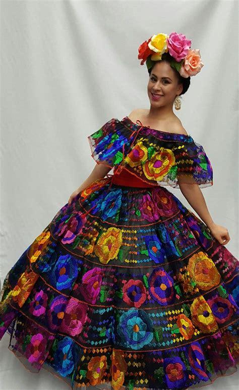 vestido de chiapas Vestidos mexicanos tradicionales