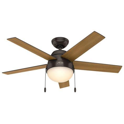 cing light and fan hunter anslee 46 in indoor premier bronze ceiling fan