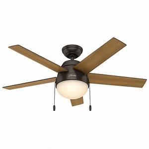 Hunter anslee in indoor premier bronze ceiling fan