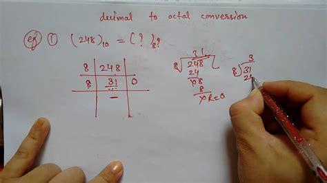 decimal  octal conversion  easy youtube