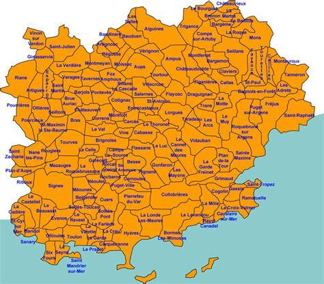Carte Du Var Avec Toutes Les Villes carte du var avec toutes les villes carte 2018
