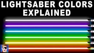 Star Wars: Lightsaber Colors Explained - YouTube  Lightsaber