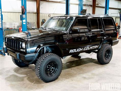 jeep xj lifted rough country cherokee xj 4 5inch lift wallpaper i