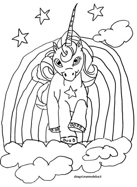 disegno da colorare unicorno disegni mammafelice