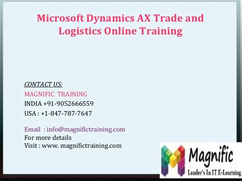 microsoft dynamics ax trade and logistics