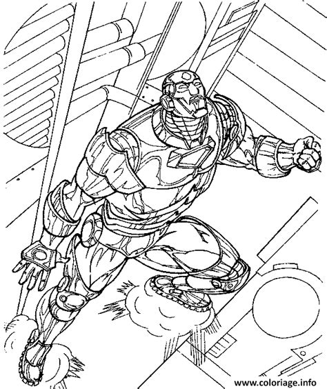 coloriage iron man  dessin