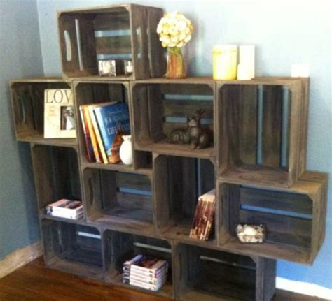 Apple Crate Bookcase by Large Rustic Apple Crate Bookshelf Toyshelf Unique
