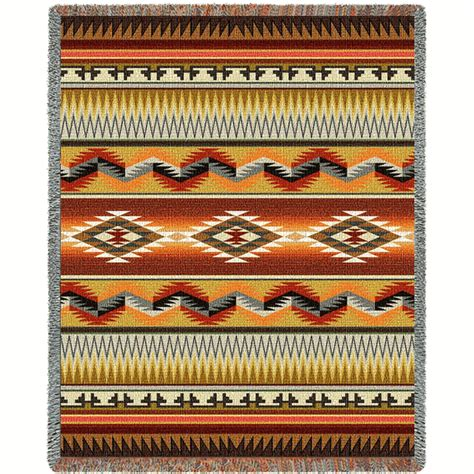 southwest geometric flame blanket