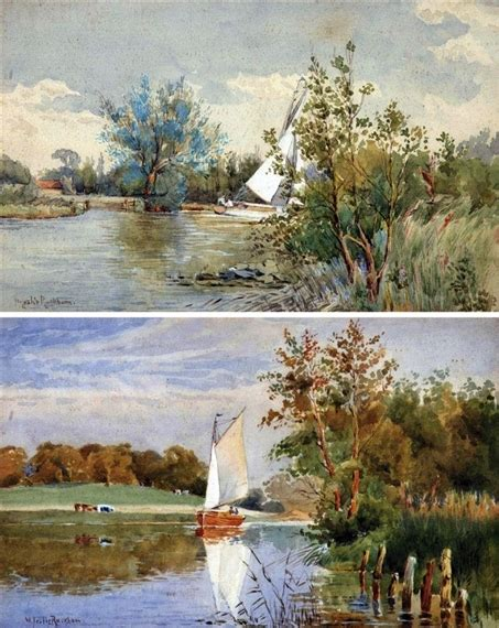 Boat Auctions Norfolk Broads by William Leslie Rackham Sailing Boats On The Norfolk