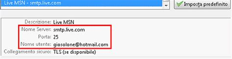 Porta Server Hotmail by Live E Hotmail Pop3 E Smtp Liberi
