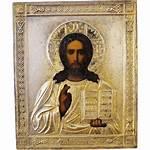 Russian Icon Christ Pantocrator Antique Century 19th