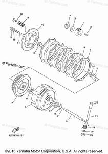 Yamaha Motorcycle 2005 Oem Parts Diagram For Clutch